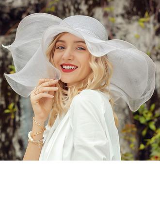 Dames Mooi/Het oog Springende Linnen met Strass Slappe Hat/Strand / Zon Hoeden/Kentucky Derby Hats