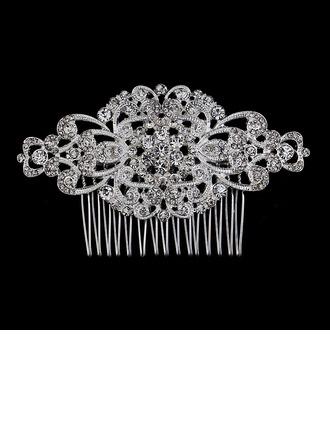 Elegant Rhinestone/Alloy Combs & Barrettes