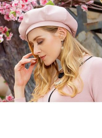 Damen Fantasie Stoff Baskenmütze Hut