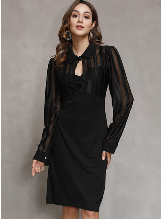 High Neck Polyester Dresses
