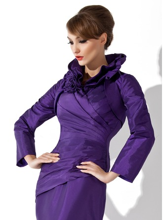 Long Sleeve Taffeta Special Occasion Wrap