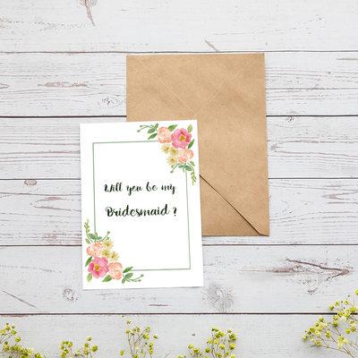 Brudepige Gaver - Attraktiv Særlige Iøjnefaldende Pap Papir Bryllupsdagskort (Sæt af 4)