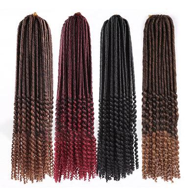 Suoraan Synteettiset hiukset punokset (Myydään yhtenä kappaleena) 100g