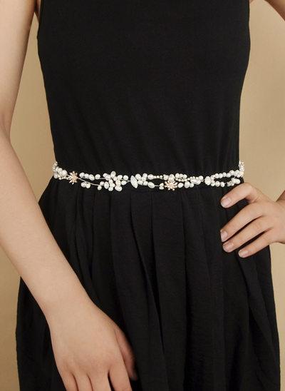 Elegante Satén Fajas con La perla de faux