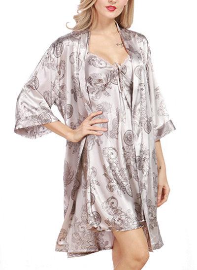 Silk Bride Bridesmaid Mom Floral Robes