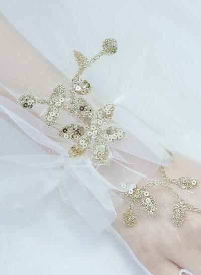 Tyll/Spets Elbow Längd Handskar Bridal