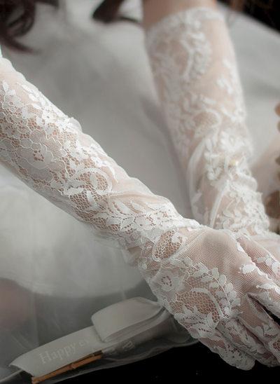 Tyl/Blonder Elbow Længde Brude Handsker
