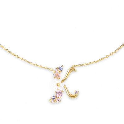 Custom 18k Gold Plated Silver Letter Initial Necklace