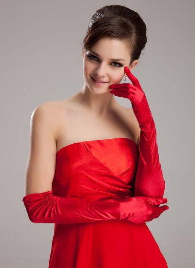 Elastisk Satin Opera Längd Party/Mode Handskar/Handskar Bridal