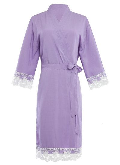 Novia La dama de honor Algodón con Hasta el tobillo Túnicas de kimono