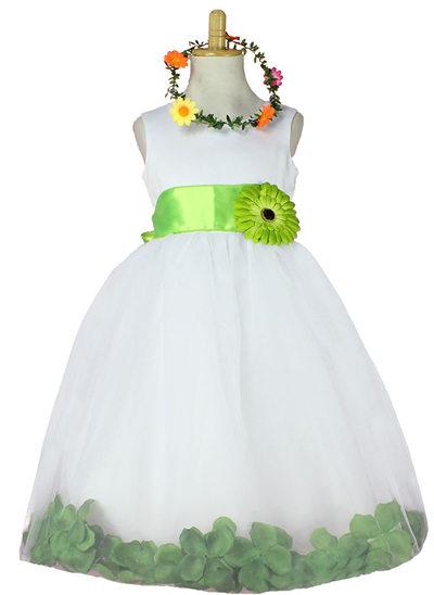 Ball Gown Knee-length Flower Girl Dress - Tulle Sleeveless Scoop Neck With Sash/Flower(s)/Rose Petals