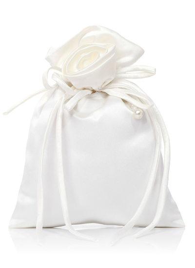 Satin mit Lace/Faux-Perlen Handtasche