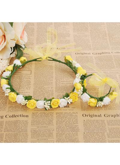 Schaum/Kunststoff Blumen-Stirnband