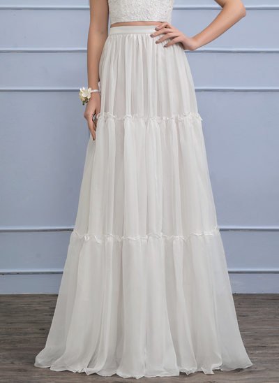 Separates Floor-Length Chiffon Wedding Skirt