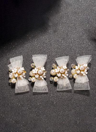 Alliage/De faux pearl/Strass avec De faux pearl/Strass épingles à cheveux (Lot de 3)
