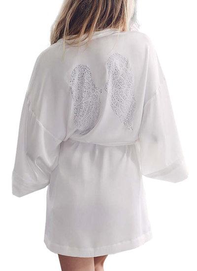 la mariée Demoiselle d'honneur Soie avec Longueur mollet Robes de satin