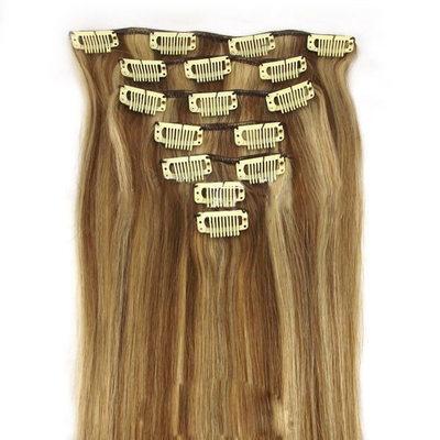 4A No remy Derecho Cabello humano Extensiones de cabello con clip 7PCS 100g