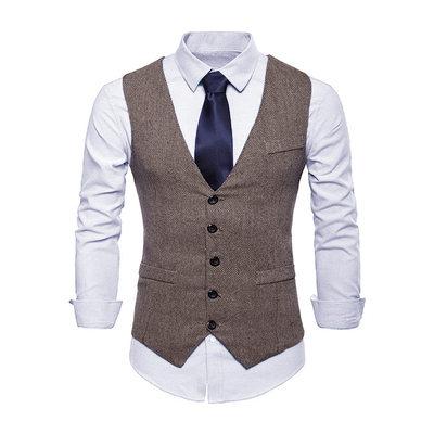 Style Classique lin Gilet Homme