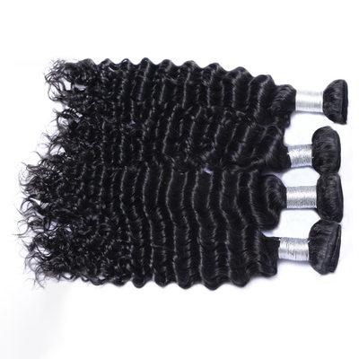 7A Profundo Cabello humano Postizo de cabello humano (Vendido en una sola pieza)