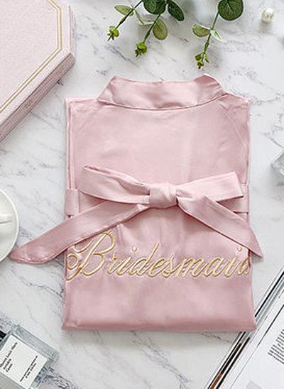 Polyester Bruidsmeisje Geborduurde gewaden