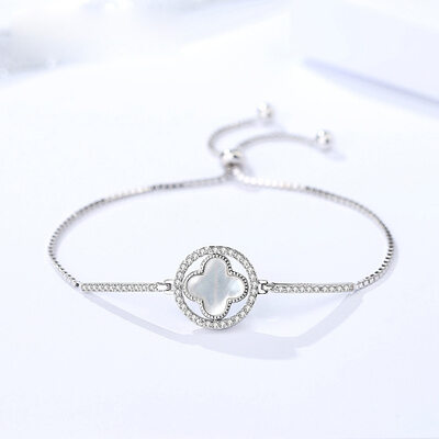 Anti-oxidation Link & Chain Bridesmaid Bracelets Bolo Bracelets With Flower -