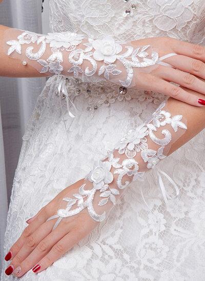 Krajka Po loket Svatební rukavice S Vyšívané