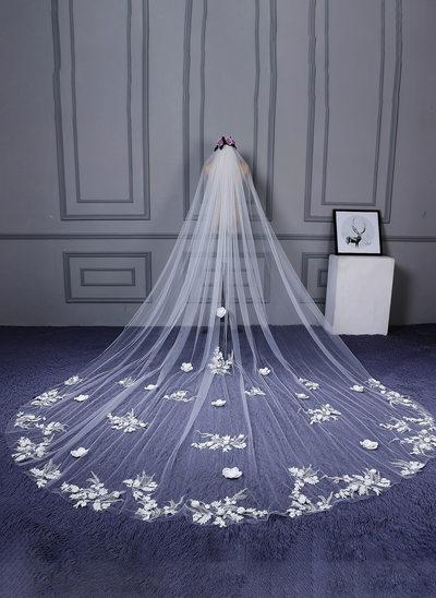 1 couche Bord de coupe Voiles de mariée cathédrale