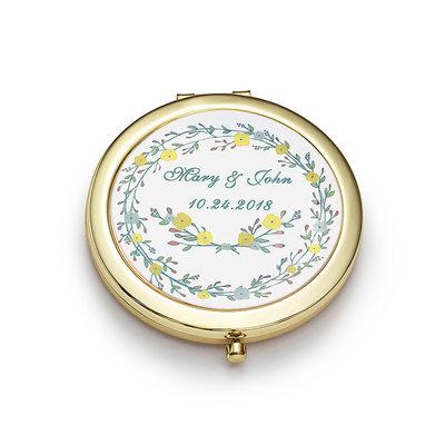 Невеста Подарки - Персонализированные Cимпатичный нержавеющая сталь Компактное зеркало
