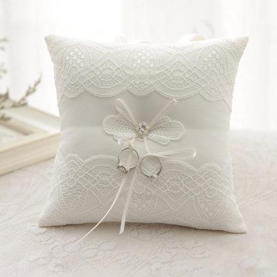 Marié - Modern Style Élégante Pearl tissu Anneau oreiller (Vendu dans une seule pièce)