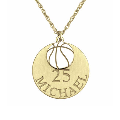 Personalized 18k Gold Plated Engraving/Engraved Circle Name Necklace Engraved Necklace