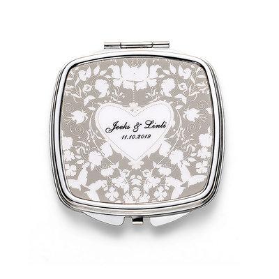 Cadeaux De Mariée - Personnalisé Beau Acier Inoxydable Miroir compact
