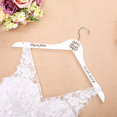 Bride Gifts - Personalized Classic Wooden Hanger (255184450)