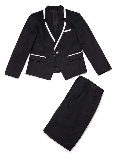Chłopcy 2 Kawałki Elegancki Garnitury dla posiadacza pierścienia /Page Boy Garnitury Z Kurtka Spodnie