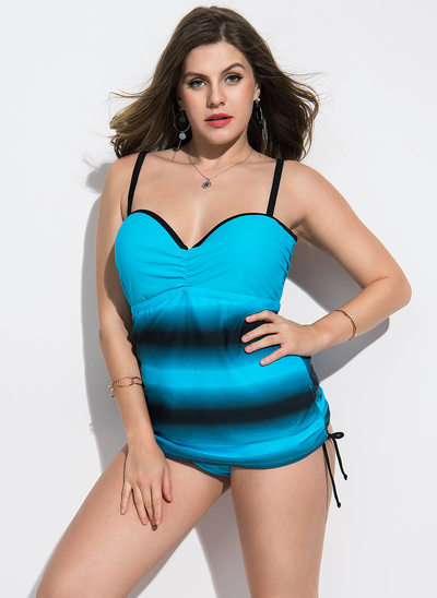 Fashional Leopard Spandex Nylon Tankinis Swimsuit