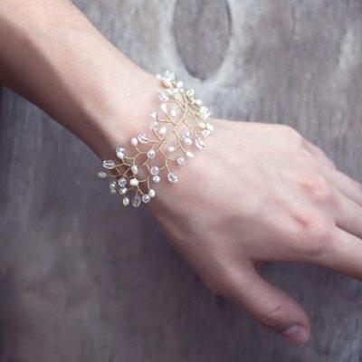 Brudepike Gaver - Klassisk Stil Elegant Legering Imitert Perle Armbånd