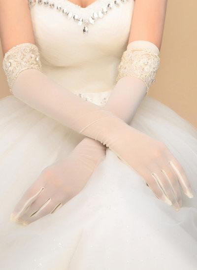 Nylon Opera Längd Handskar Bridal