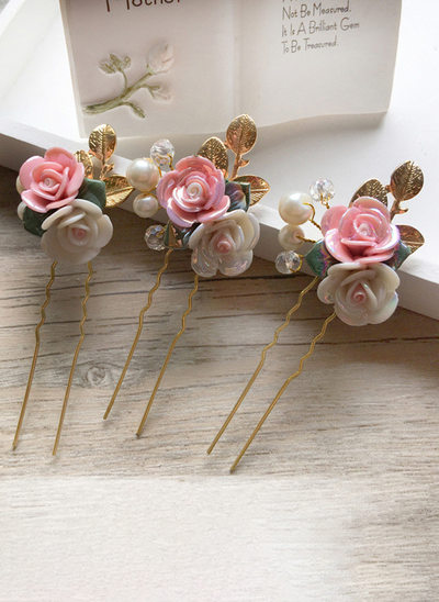 Alloy/Imitation Pearls With Imitation Pearls Hairpins (Set of 3)