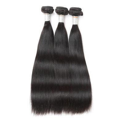 4A Ne remy Rovný Lidský vlas Lidské vlasy tkát (Prodáno v jediném kusu) 50g