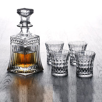 Groomsmen Gaver - Vintage Stil Glass Decanter sett
