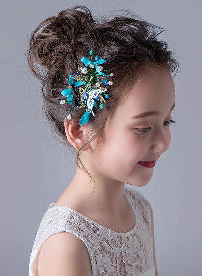 Alloy With Rhinestones Hairpins