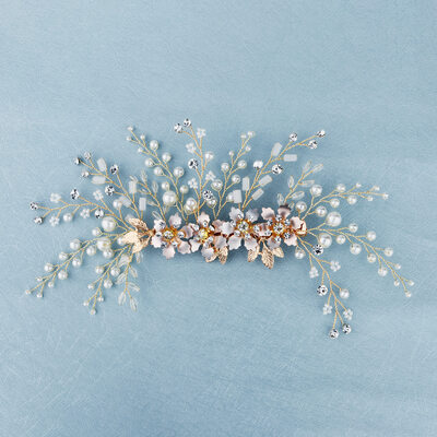 Beautiful Alloy Hairpins With Rhinestone/Venetian Pearl (Sold in single piece)