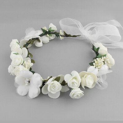 Precioso Flores de seda Diademas (Se venden en una sola pieza)