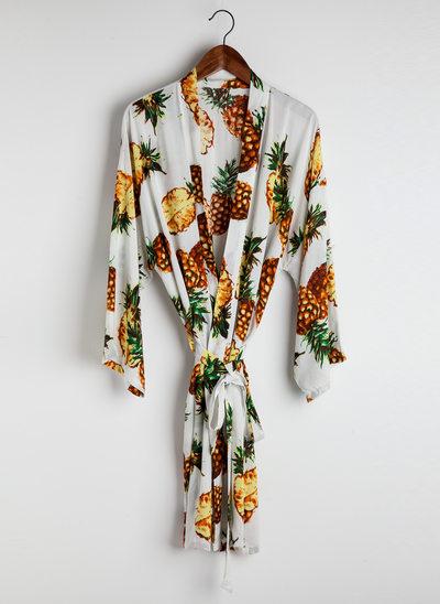 Novia La dama de honor Algodón con Hasta la tibia Túnicas de kimono