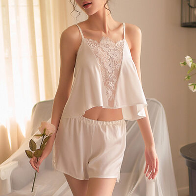 Klassisk stil Satäng Brudunderkläder/Cami-uppsättningar
