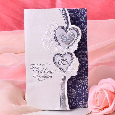 стиль сердца Tri-Fold Invitation Cards