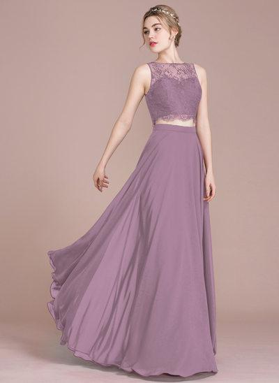 Vestidos princesa/ Formato A Decote redondo Longos Vestido de baile