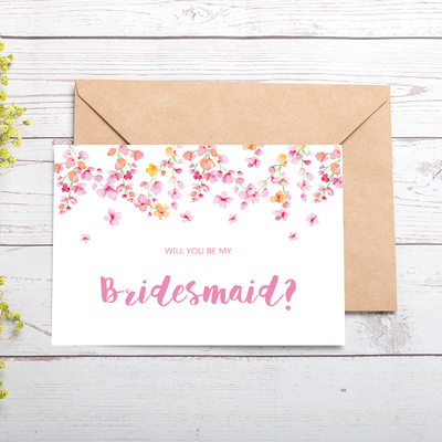 Bridesmaid Gifts - Classic Attractive Special Card Paper Wedding Day Card (Set of 4)