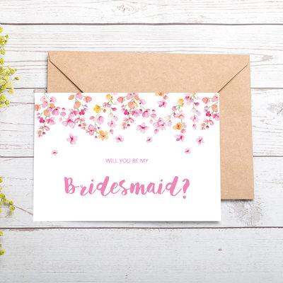 Bruidsmeisje Gifts - Kassiek Aantrekkelijk Speciaal Kaart Papier Bruiloft dag kaart (Set van 4)