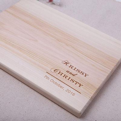 Regalos Del Novio - Personalizado Estilo Clásico Elegante Madera Tabla de cortar