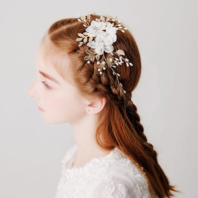 With Imitation Pearls/Flower Headbands (Sold in a single piece)